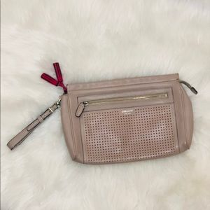 Coach Legacy Perforated Large Leather Wristlet